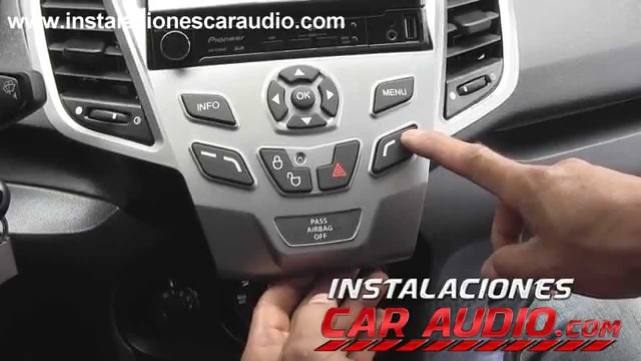 Instalaci n radio en ford fiesta 2012 reeemplazo consola for Electric motor repair mesa az