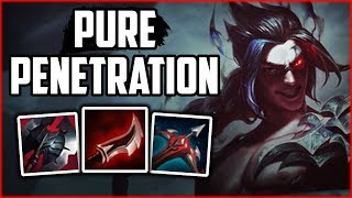 Pure Penetration 1v5 RED KAYN! - Red Kayn Commentary Guide - League of Legends