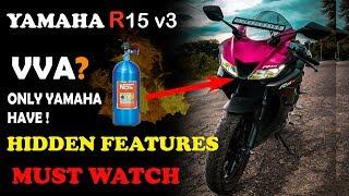 Hidden Features - Yamaha R15 v3 | top 5 | motovlog | letest technology