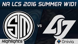 TSM vs CLG highlights Game 1 NA LCS 2016 Summer W1D1 Team Solo Mid vs Counter Logic Gaming