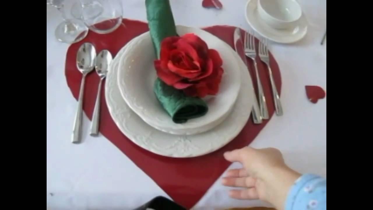 Dia dos Namorados (mesa decorada) YouTube -> Decoração De Restaurante Para Dia Dos Namorados