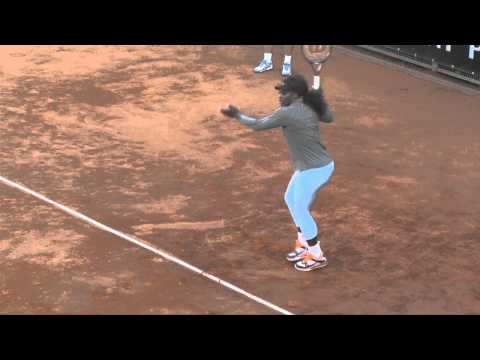 Tennis Internazionali BNL Roma 2013, allenamento di Serena Williams
