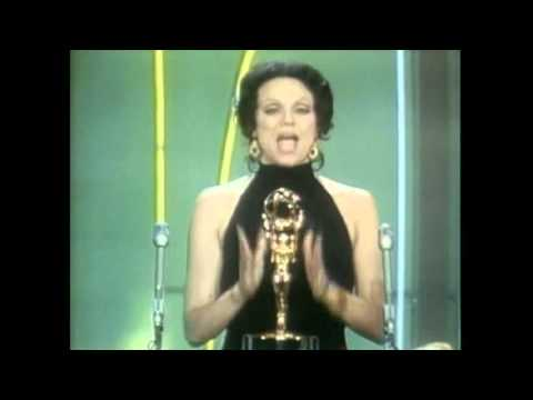 Ed Asner and Valerie Harper winning Emmy's in 1970 for The Mary Tyler Moore Show