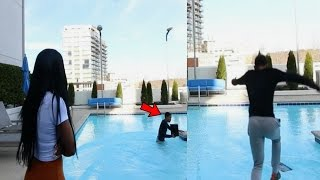 ANGRY GIRLFRIEND THROWS PS4 IN THE POOL!!! (REVENGE PRANK)