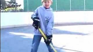 The 6 year old hockey sniper.