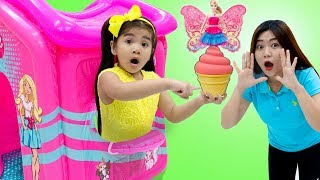 Suri Pretend Play /w Barbie Kinetic Sand Colored Ice Cream Food Toys