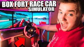 $30,000 BOX FORT Race Car SIMULATOR Challenge! 📦🚗