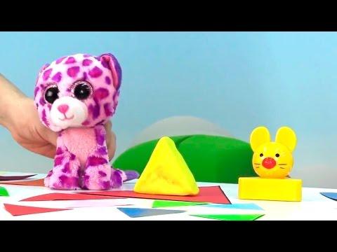 Видео для малышей. Учим Фигуры с Тигренком - Треугольник