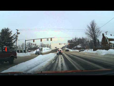 DRIVING AFTER SNOW STORM massachusetts USA 2015 springfield dodge dart