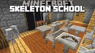 Minecraft SKELETON DAYCARE SCHOOL MOD / FIND THE BEST SCHOOL FOR THESE MONSTERS !! Minecraft