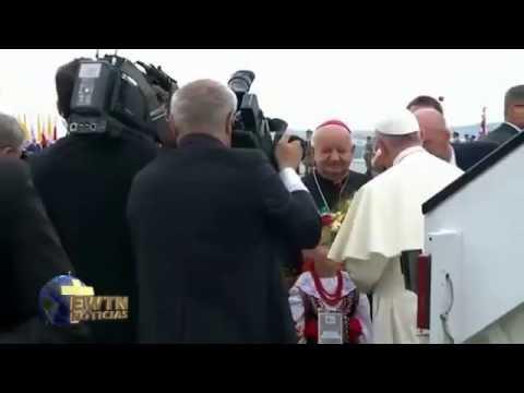 JMJ Cracovia 2016: Llegada del Papa Francisco a Cracovia