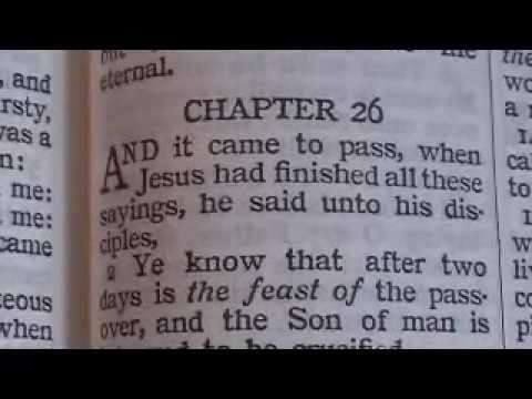 Matthew 26 King James Holy Bible