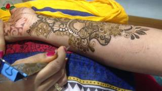 tutorial 26 : how to draw seamless bridal mehendi fusion style modern henna design