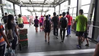 2017.7.22 桃園機場捷運 A18高鐵桃園站  Taoyuan Metro  轉乘 THSRC 台灣高鐵桃園站  路程景