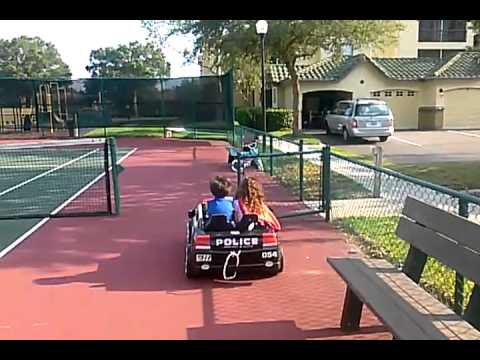 POWER WHEELS POLICE CAR CRASH TEST KID TOY REVIEW