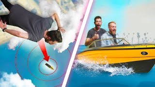 Skydiving Into A MOVING BOAT!   GTA5