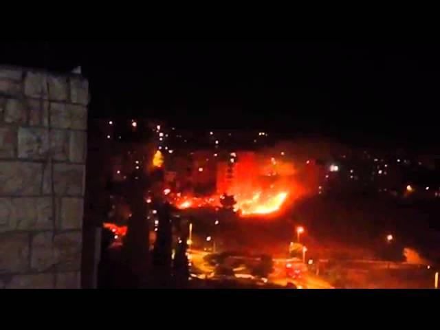 ירושלים: כיבוי והצלה פעלו בשריפה בשכונת ארמון הנציב