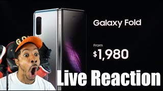 Samsung Announces 2,000 Dollar Foldable Phone! Live Reaction. Galaxy Fold