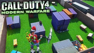 Playing the Call of Duty Map SHIPMENT in Fortnite Creative Mode! (HUGE 1V1 Battle!)