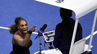 VİDEO - ABD Açık'ta kaybeden Serena Williams sandalye hakemiyle tartıştı
