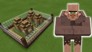 MCPE: How To Make a MUTANT VILLAGER FARM