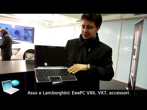 Asus Lamborghini VX6. VX7 e nuovi accessori dallo showroom Lamborghini di Milano