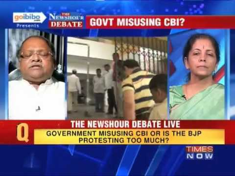 The Newshour Debate: Is the Government using CBI or BJP protesting too much? (The Full Debate)