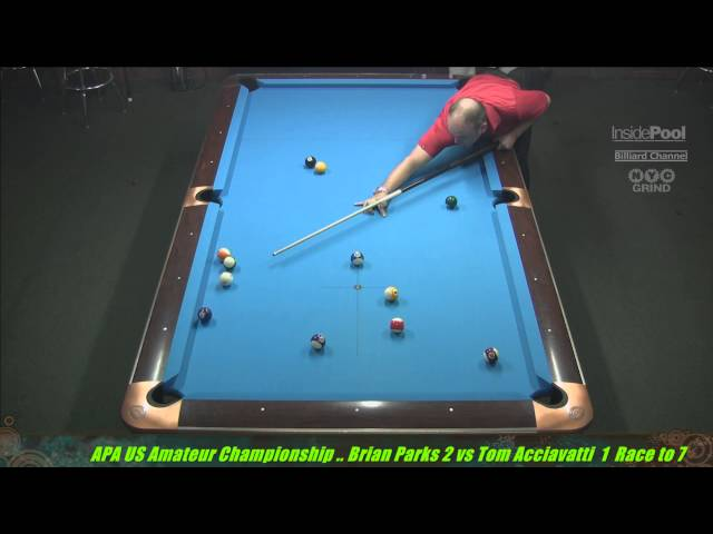 2014 APA US Amateur Championship Brian Parks VS  Tom Acciavatti