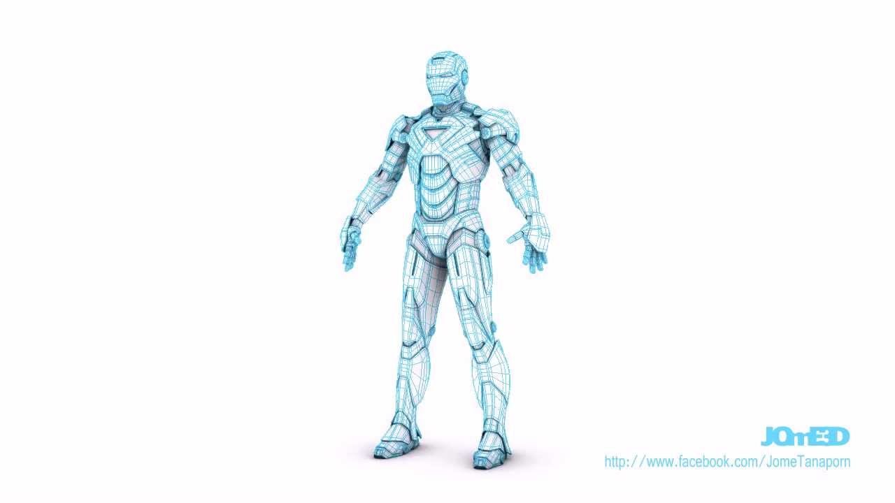 Model Iron Man 3d Iron Man Mark 6 Model in