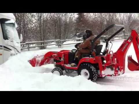 Plowing snow with Kubota BX-25