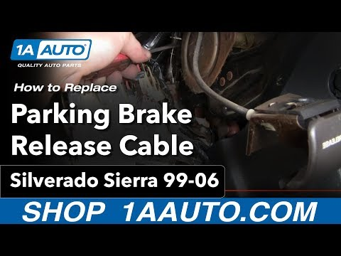How To Install Repair Replace Parking Brake Release Cable Handle Silverado Sierra 99-06 1AAuto.com