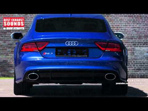 Audi RS7 Sportback 2015 [BEST EXHAUST SOUNDS] by Rich Streets