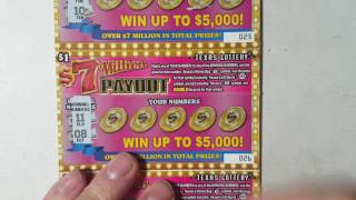 5X $1 7 Million Dollar Payout Texas Lottery Scratch Off Tickets