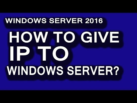 How to configure static ip on windows server 2016 || windows server 2012 tutorial for beginners.