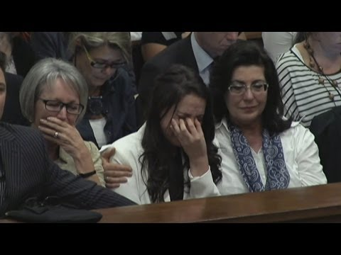 Emotional Oscar Pistorius breaks down in court describing the moment he found Reeva Steenkamp