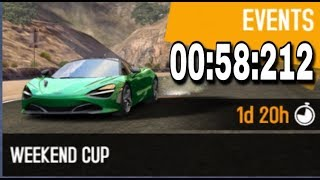 Asphalt 8 Weekend Cup McLaren Mercedes MP4-25 Nevada 00:58:212
