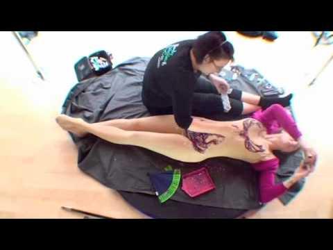 She-Ra Zena inspired glitter tattoo leotard Body Painting