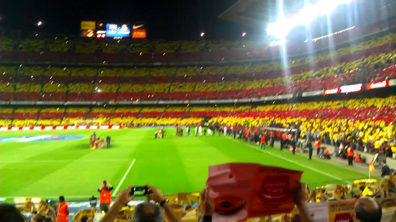 """Clásico"""" Nou Camp during and """"El Catalan The  on mosaic"""
