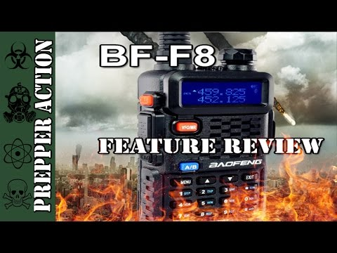 Baofeng BF-F8HP 8W review of features and accessories