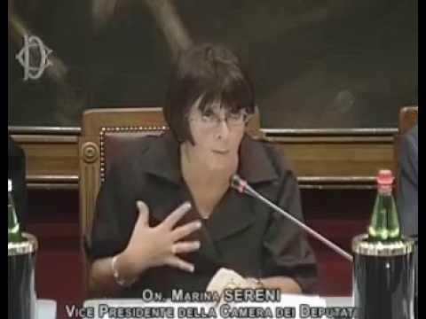 marina sereni vice presidente della camera dei deputati youtube