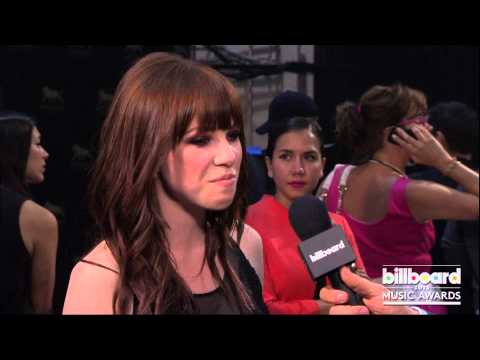 Carly Rae Jepsen Backstage at the Billboard Music Awards 2013