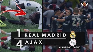 REAL MADRID 1 x 4 AJAX NO FIFA 19 - CHAMPIONS LEAGUE | NARRAÇÃO DE ANDRÉ HENNING