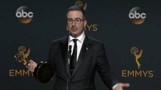 John Oliver Emmys 2016 Full Backstage Interview