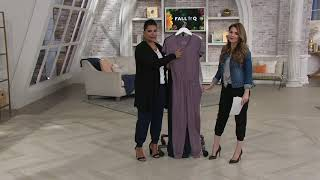 AnyBody Cozy Knit Button Front Jumpsuit on QVC