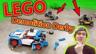 LEGO RC Car Demolition Derby with Slowmo