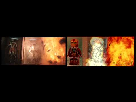 Lego Iron Man 3 Trailer Side By Side