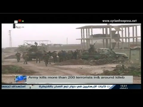 Syria News 6/4/2015, Army kills more than 200 terrorists in & around Idleb