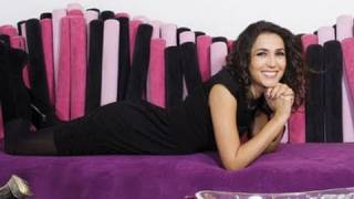 Caterina Balivo backstage servizio fotografico nella sua casa