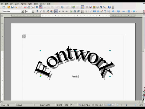 OpenOffice Tutorial: Create Special Effects Fonts with Fontwork.