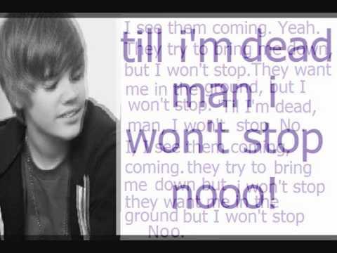 Won't Stop - Justin Bieber Ft. Sean Kingston Lyrics video